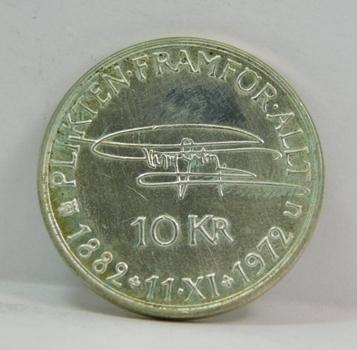 1882-1972 Sweden Silver 10 Kroner - 90th Birthday of King Gustaf VI Adolf Silver Commemorative