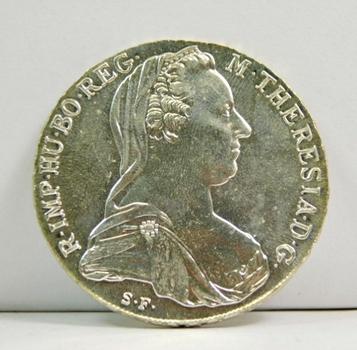 1780 Austria Maria Theresa Silver Thaler - High Grade and Lustrous