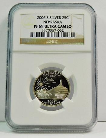 2006-S Proof Silver Nebraska State Commemorative Quarter - Graded PF69 ULTRA CAMEO by NGC