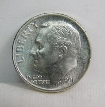 1961 Silver Roosevelt Dime - Excellent Detail and Luster - Philadelphia Minted-High Grade