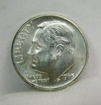 1963-D Silver Roosevelt Dime - Excellent Detail and Luster - Denver Minted - High Grade