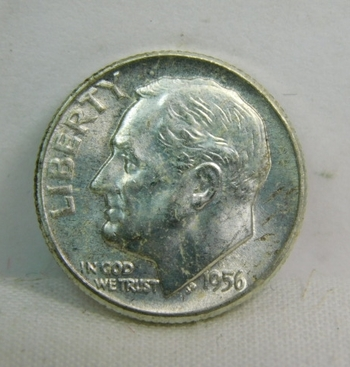 1956 Silver Roosevelt Dime - Excellent Detail and Luster - Philadelphia Minted - High Grade