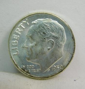 1952-D Silver Roosevelt Dime - Excellent Detail and Luster - Denver Minted - High Grade
