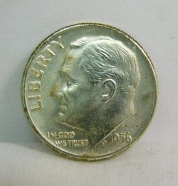 1956-D Silver Roosevelt Dime - Excellent Detail and Luster - Denver Minted - High Grade