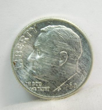 1960 Silver Roosevelt Dime - Excellent Detail and Luster - Philadelphia Minted - High Grade