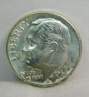 1964-D Silver Roosevelt Dime - Excellent Detail and Luster - Denver Minted - High Grade