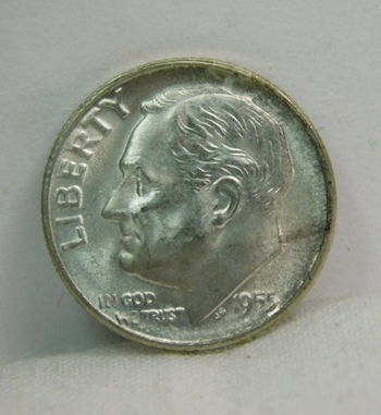 1955-S Silver Roosevelt Dime - Excellent Detail and Luster - San Francisco Minted - High Grade