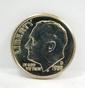 1989-D Brilliant Uncirculated Roosevelt Dime