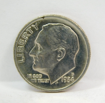 1984-P Roosevelt Dime - Excellent Detail and Luster on High Grade Coin