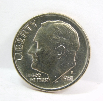 1981-P Roosevelt Dime - Excellent Detail and Luster on a High Grade Coin