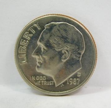 1987-D Brilliant Uncirculated Roosevelt Dime