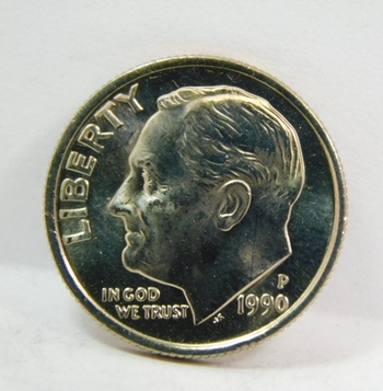 1990-P Roosevelt Dime - Excellent Detail and Luster