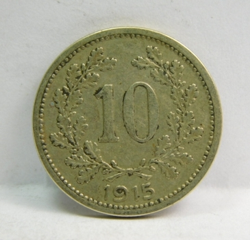"1915 Austro-Hungarian ""10 Heller"" Crowned Eagles"