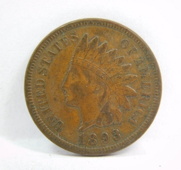 HIGH GRADE - 1893 Indian Head Cent - Excellent Detail - LIBERTY Fully Visible