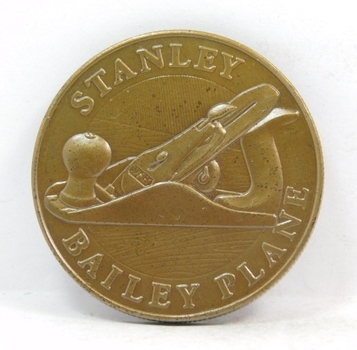Stanley Bailey Plane - Handyman Club of America - Tool Hall of Fame Collectors Series Commemorative Coin/Medal