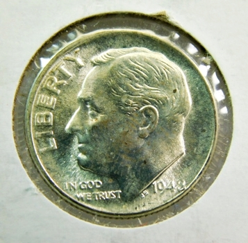 1948-D Silver Choice Brilliant Uncirculated Roosevelt Dime