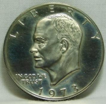 "1973-S Proof Eisenhower 'IKE"" Dollar - Deep Cameo"