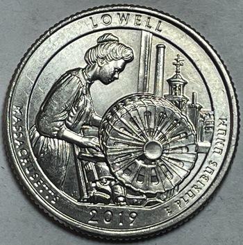 Scarce 2019-W Lowell, Massachusetts Commemorative Quarter  - West Point Minted