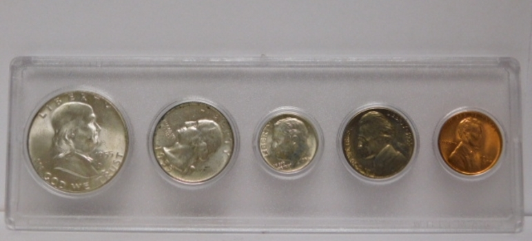 1955 U. S. Silver Uncirculated Mint Set in Whitman Holder
