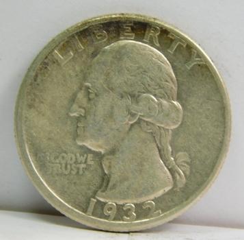 1932-D Silver Washington Quarter - Denver Minted