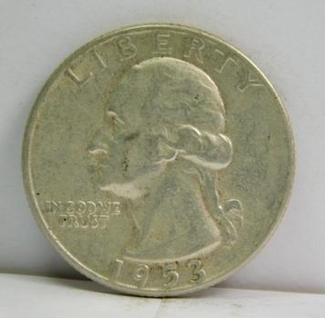 1953 Silver Washington Quarter - Philadelphia Minted