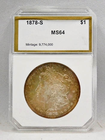 1878-S Morgan Silver Dollar - PCI Graded MS64 - San Francisco Minted