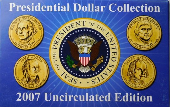 2007 Uncirculated Edition Presidential Dollar Collection
