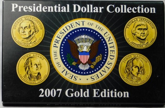 2007 Gold Edition Presidential Dollar Collection
