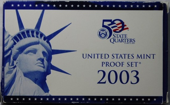 2003 United states Mint Proof Set with 2003 State Quarters