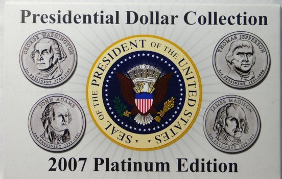 2007 Platinum Edition Presidential Dollar Collection