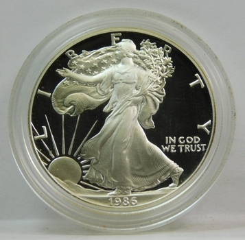 1986-S Proof American Silver Eagle - Minted in San Francisco - Perfect Detail and DCAM