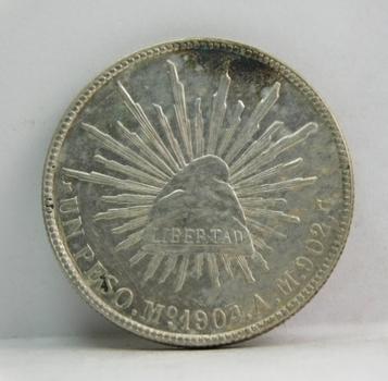 1904 Mexico Silver Peso - Nice Higher Grade