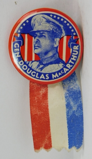 Scarce Authentic General MacArthur Political Pin (Presidential???)