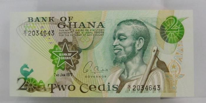 "1977 Bank of Ghana ""2 Cedis"" Uncirculated Note"