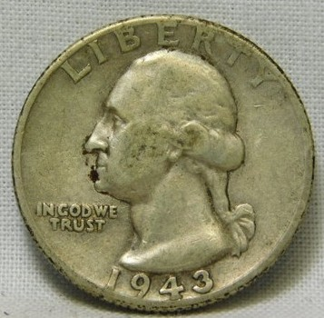 1943-D Silver Washington Quarter - Very Well Outlined with Detail on Eagle's Wings - Clear Date and Mint Mark