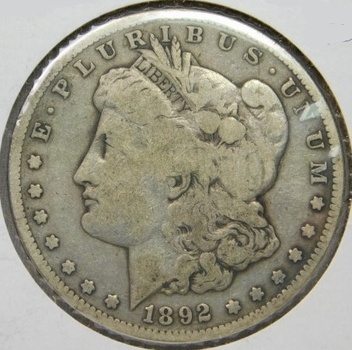 SCARCE DATE! - 1892-S Morgan Silver Dollar - Liberty Visible