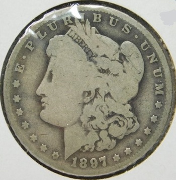 1897-O Morgan Silver Dollar - Well Outline with LIBERTY Visible