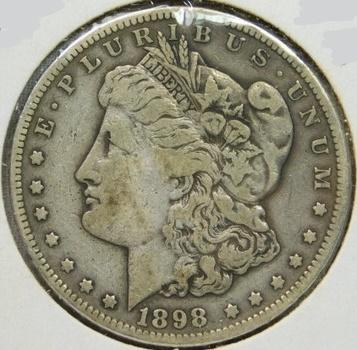 SCARCE DATE!! - 1898-S Morgan Silver Dollar - Good Detail