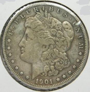 SCARCE DATE!! - 1901-O Morgan Silver Dollar - LIBERTY Sharp - Good Detail