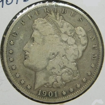 SCARCE DATE!! - 1901-S morgan Silver Dollar - LIBERTY Visible - Well Outlined