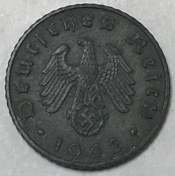 1942A Germany WWII 5 Reichspfennig