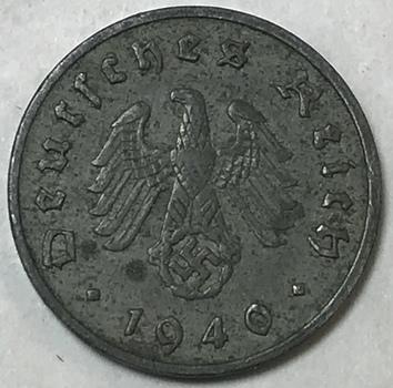 1940A Germany WWII 10 Reichspfennig