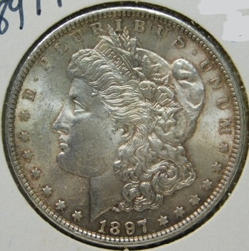 HIGH GRADE!! - 1897 Morgan Silver Dollar - Excellent Detail with Luster
