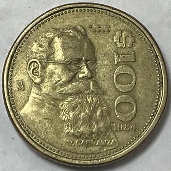 1984 Mexico $100 Pesos
