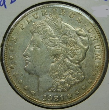 HIGH GRADE!! - LAST YEAR of ISSUE!! - 1921-D Morgan Silver Dollar - Excellent Detail with Luster