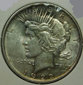 HIGH GRADE!! - 1922-D  Peace Silver Dollar - Excellent Detail with Luster