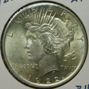 HIGH GRADE!! - 1922 Peace Silver Dollar - Excellent Detail and Luster