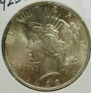 HIGH GRADE!! - 1923 Peace SILVER Dollar - Excellent Detail and Luster