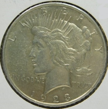 HIGH GRADE!! - 1923-D Peace Silver Dollar - Good Detail with Luster