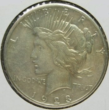 HIGH GEADE!! - 1923-S Peace Silver Dollar - Good Detail with Luster
